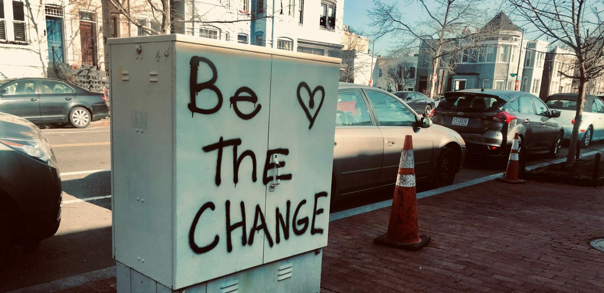 verander de wereld